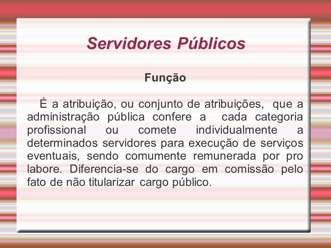 Servidores Públicos Função