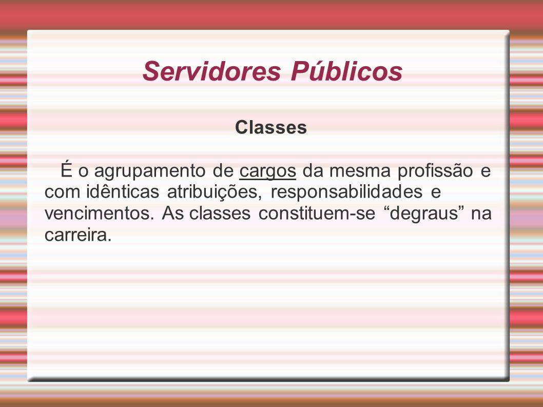 Servidores Públicos Classes