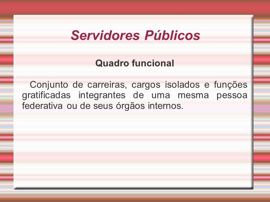 Servidores Públicos Quadro funcional
