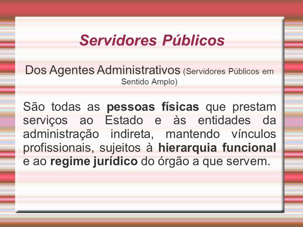 Dos Agentes Administrativos (Servidores Públicos em Sentido Amplo)