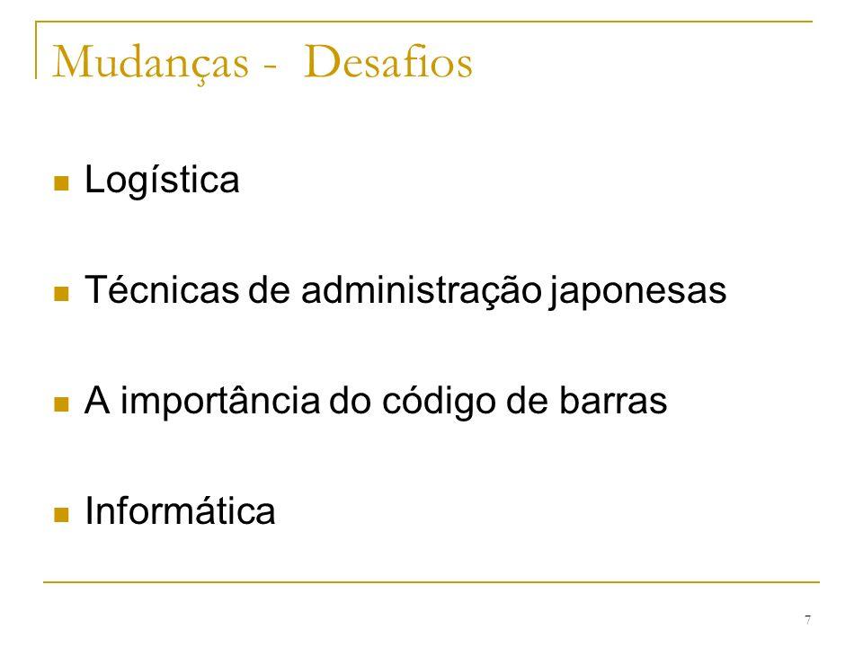 Mudanças - Desafios Logística Técnicas de administração japonesas