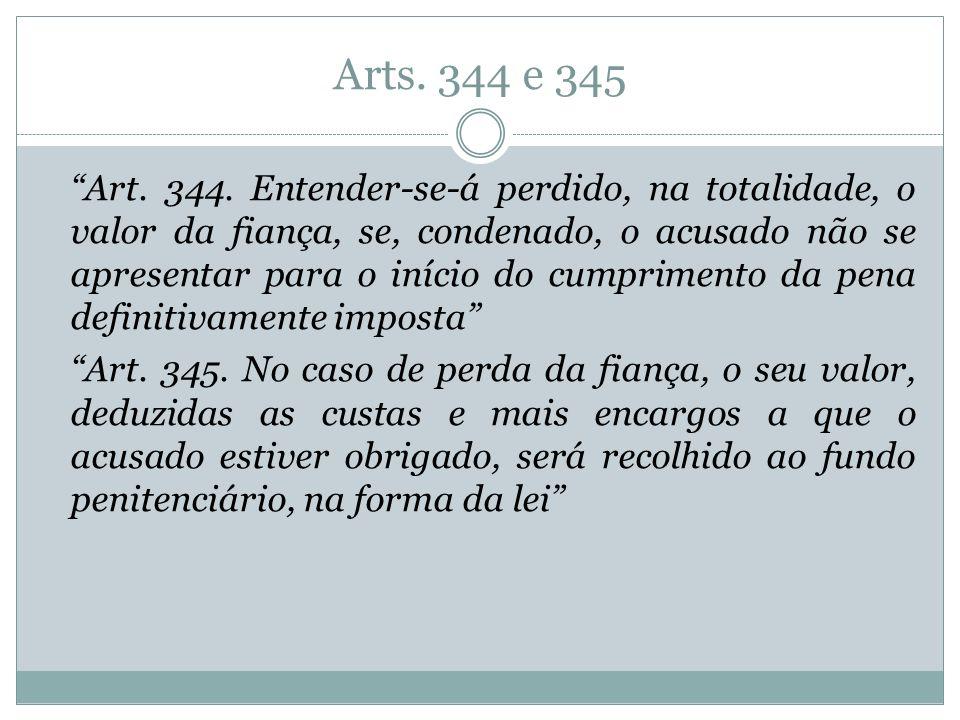 Arts. 344 e 345