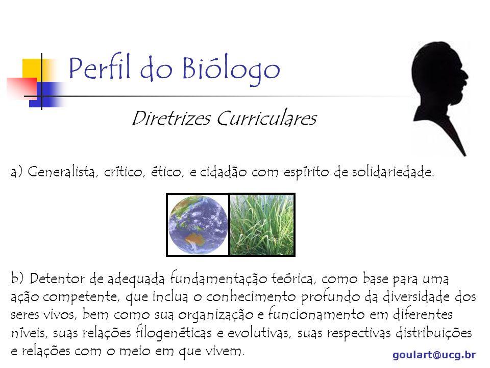 Perfil do Biólogo Diretrizes Curriculares