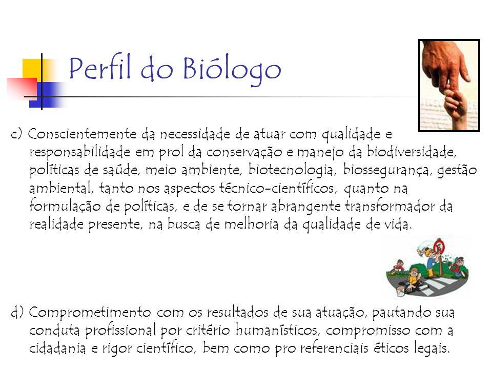 Perfil do Biólogo