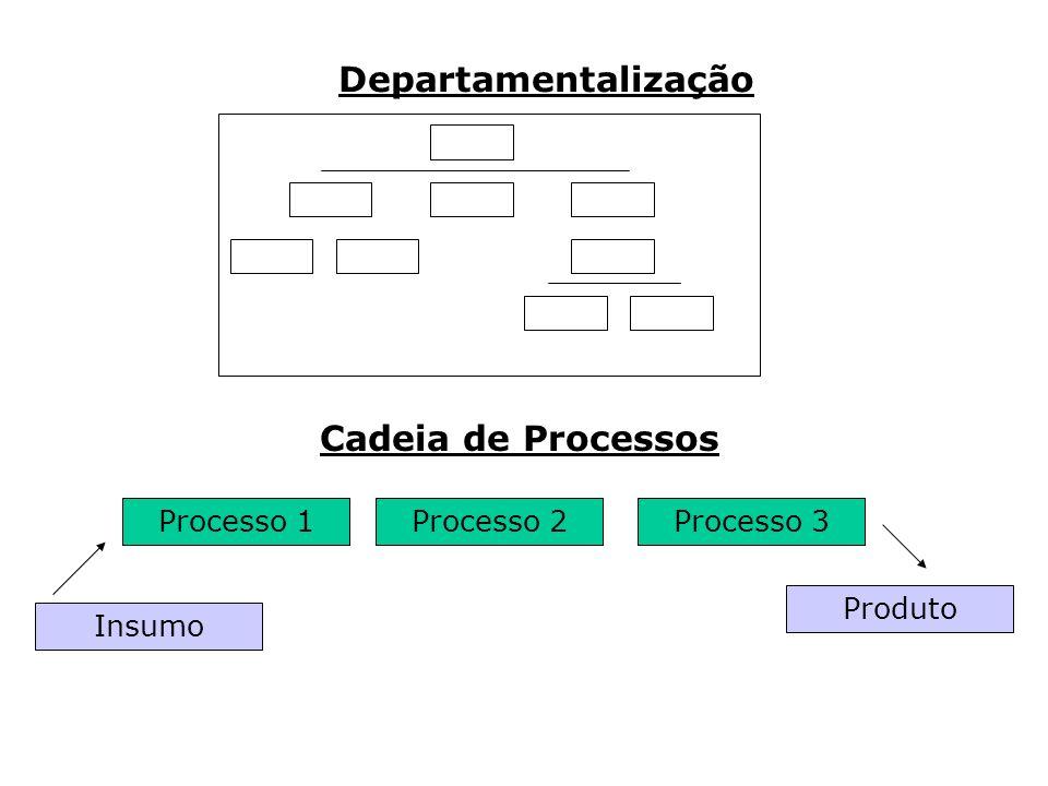 Departamentalização Cadeia de Processos