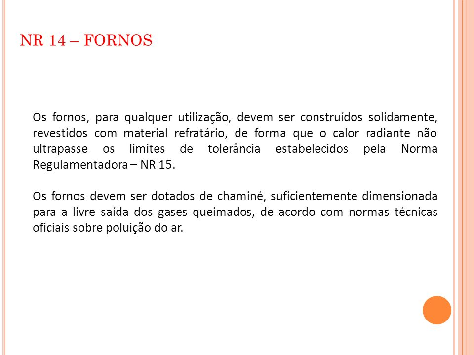 NR 14 – FORNOS