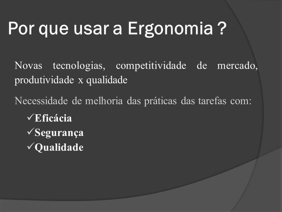 Por que usar a Ergonomia