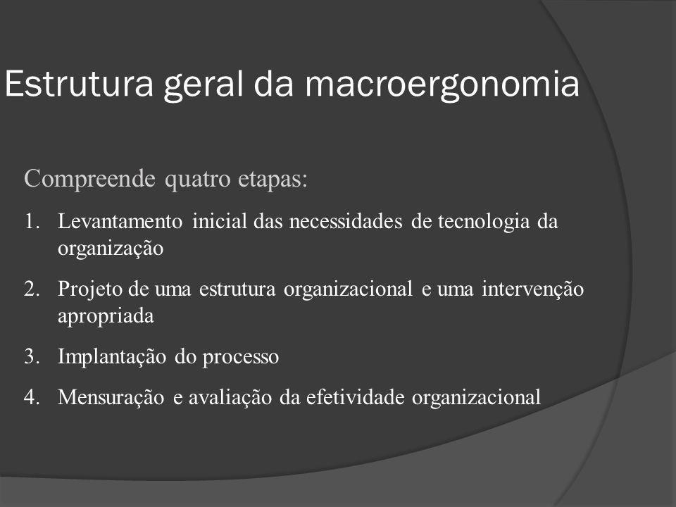 Estrutura geral da macroergonomia