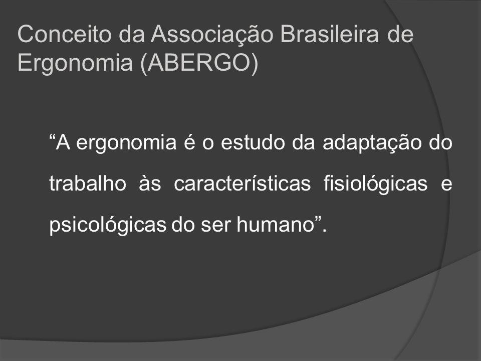 Conceito da Associação Brasileira de Ergonomia (ABERGO)