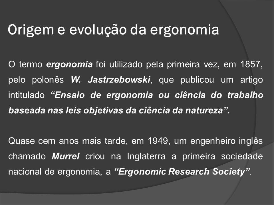 Origem e evolução da ergonomia