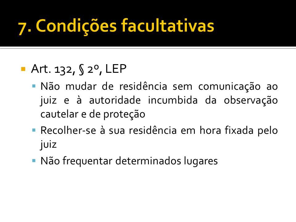 7. Condições facultativas