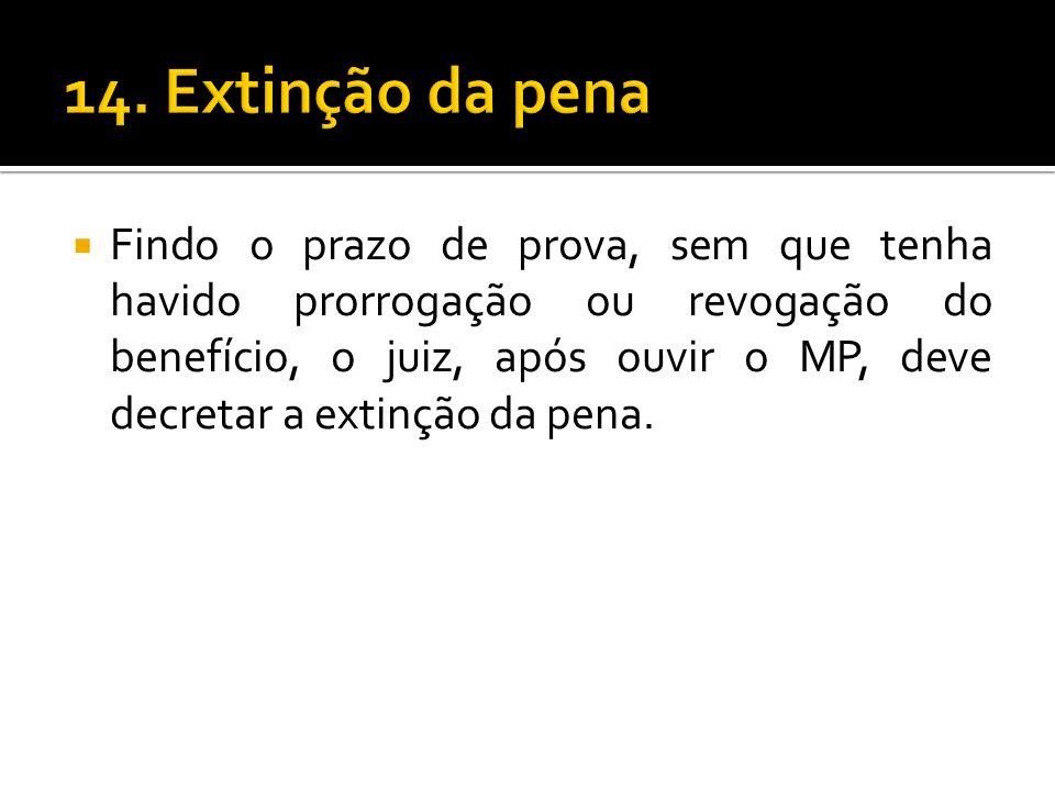 14. Extinção da pena