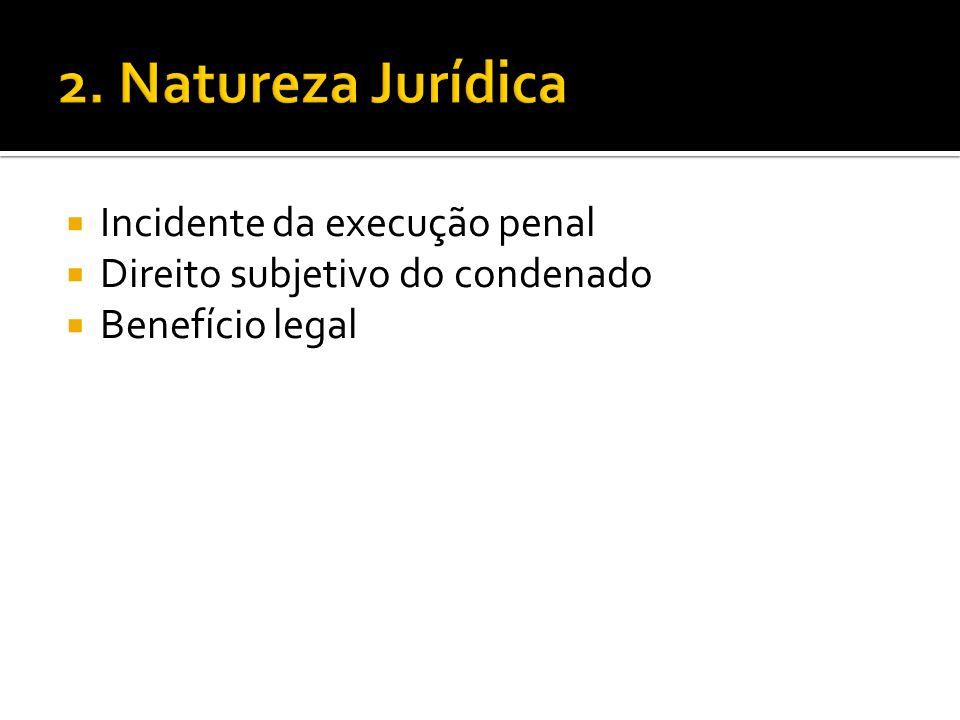 2. Natureza Jurídica Incidente da execução penal