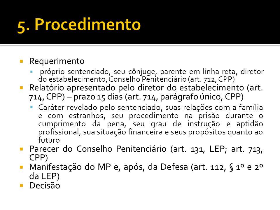 5. Procedimento Decisão Requerimento