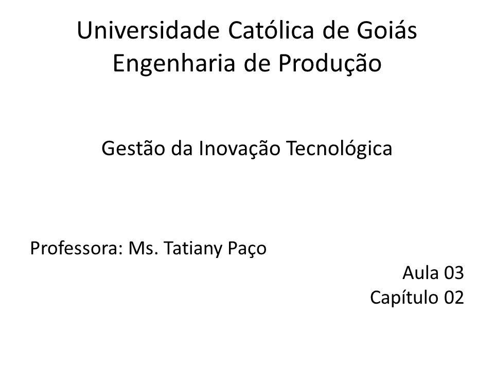 Universidade Católica de Goiás Engenharia de Produção