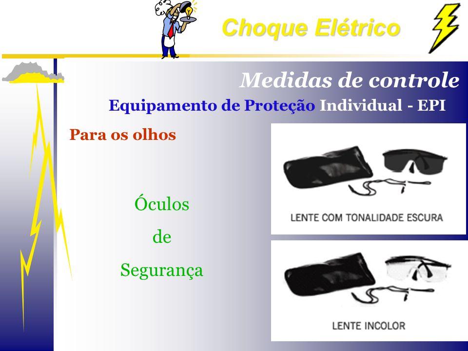 Medidas de controle Óculos de Segurança
