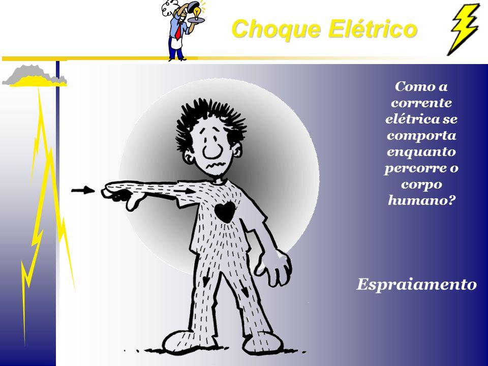 Como a corrente elétrica se comporta enquanto percorre o corpo humano