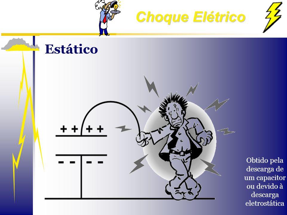 Estático Obtido pela descarga de um capacitor ou devido à descarga eletrostática