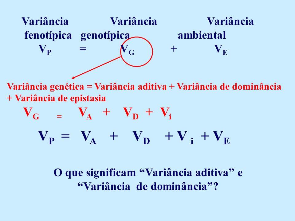 O que significam Variância aditiva e Variância de dominância