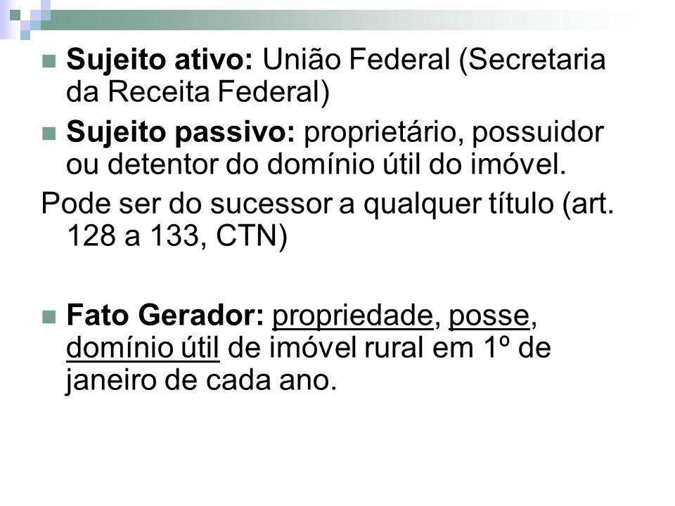 Sujeito ativo: União Federal (Secretaria da Receita Federal)