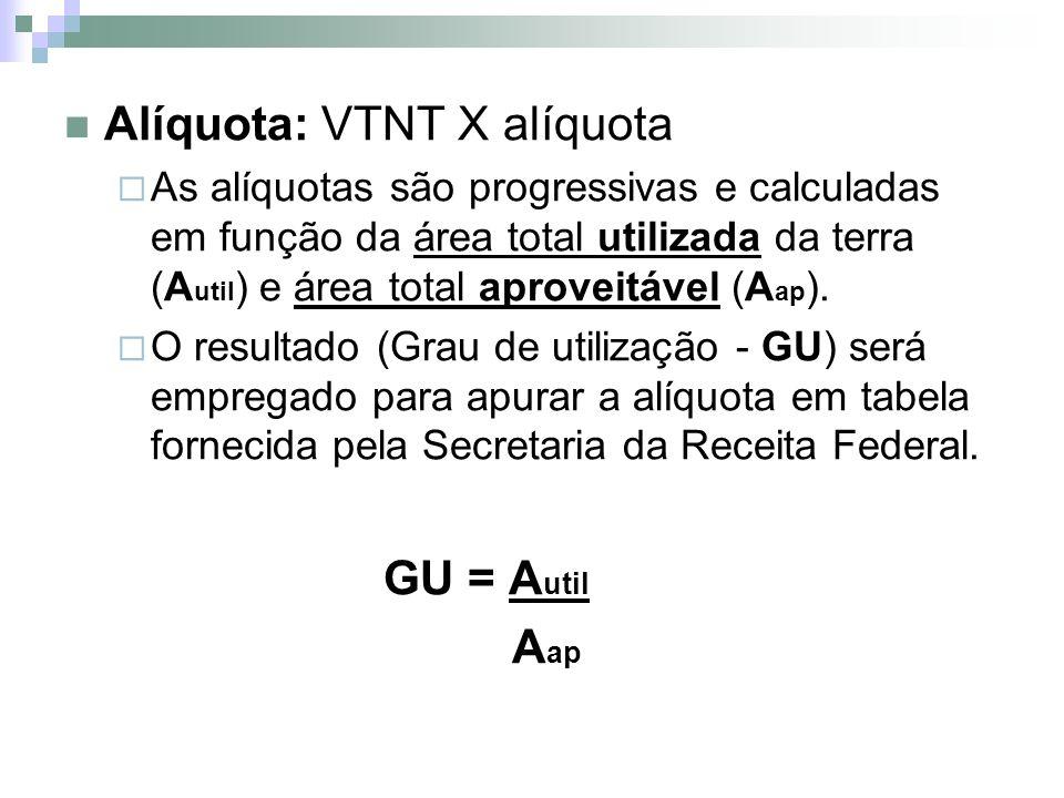 Alíquota: VTNT X alíquota