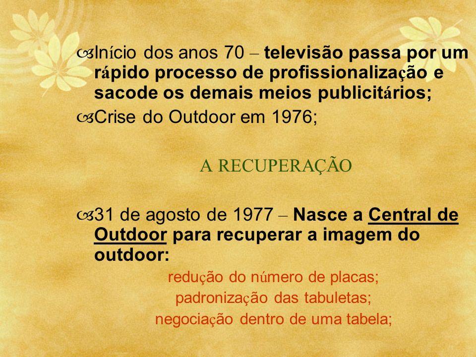 Início dos anos 70 – televisão passa por um rápido processo de profissionalização e sacode os demais meios publicitários;