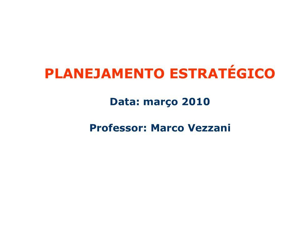 PLANEJAMENTO ESTRATÉGICO Professor: Marco Vezzani