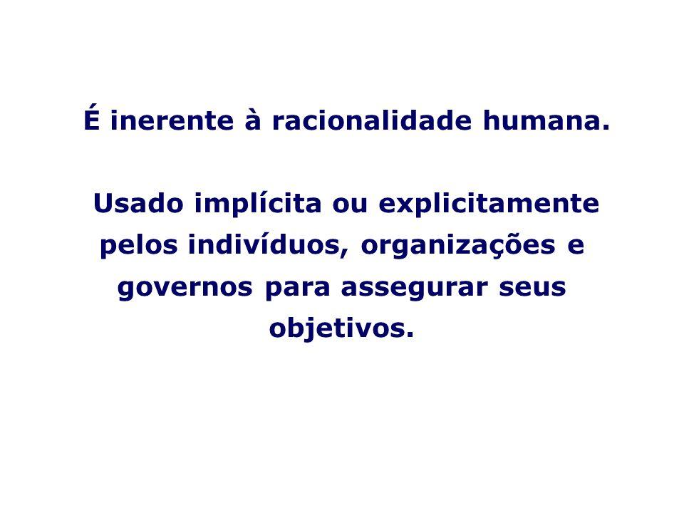 É inerente à racionalidade humana.