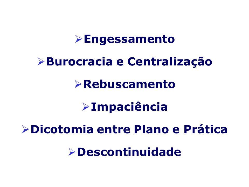 Burocracia e Centralização Dicotomia entre Plano e Prática