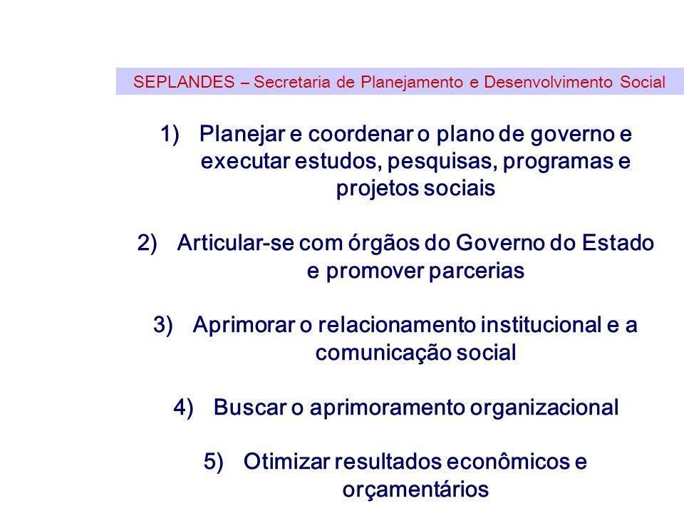 Articular-se com órgãos do Governo do Estado e promover parcerias