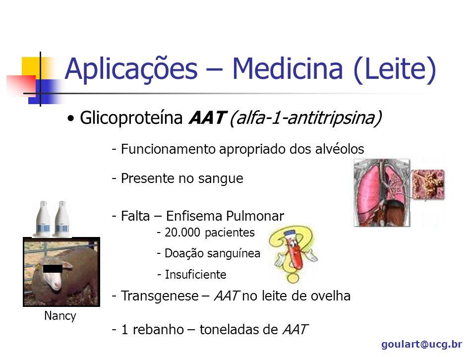 Aplicações – Medicina (Leite)