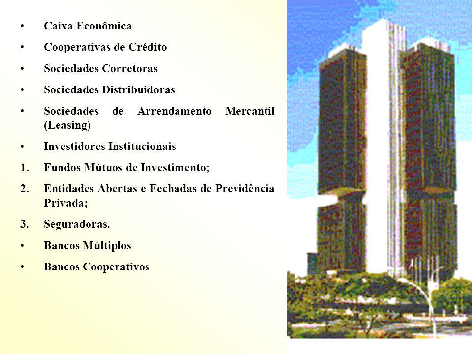 Caixa EconômicaCooperativas de Crédito. Sociedades Corretoras. Sociedades Distribuidoras. Sociedades de Arrendamento Mercantil (Leasing)