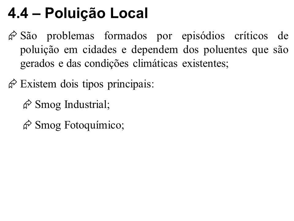 4.4 – Poluição Local
