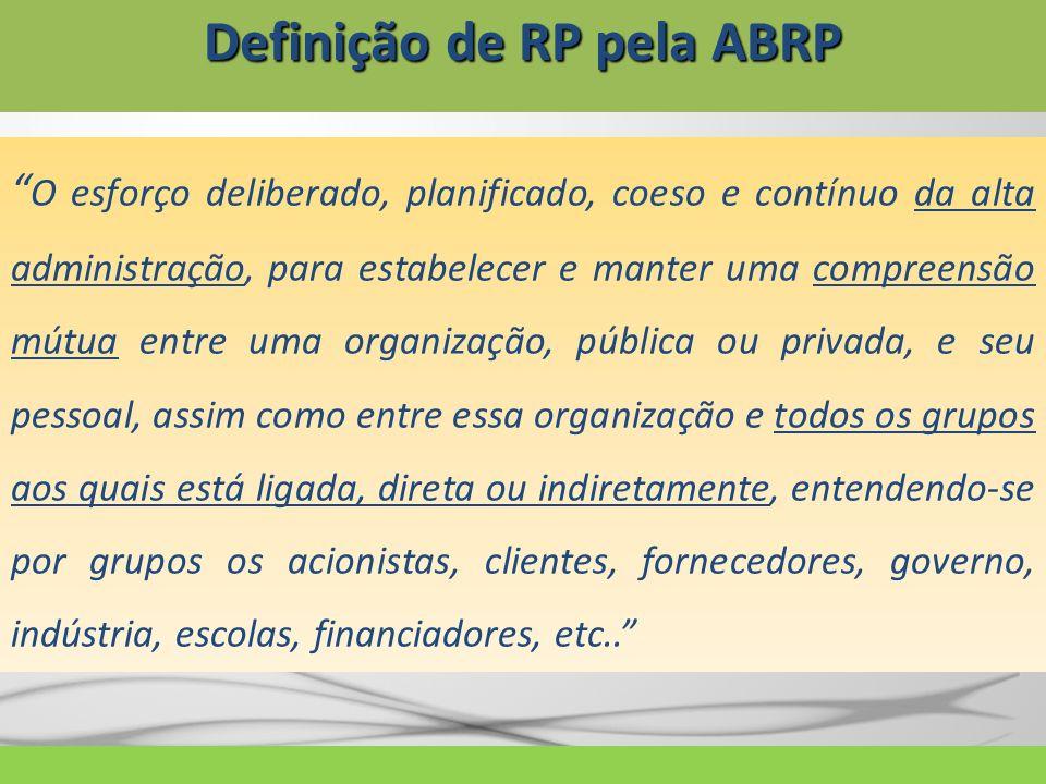 Definição de RP pela ABRP