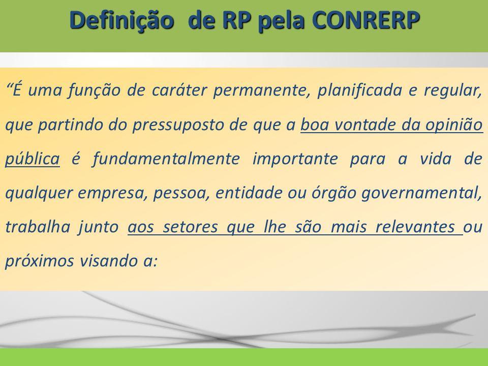 Definição de RP pela CONRERP