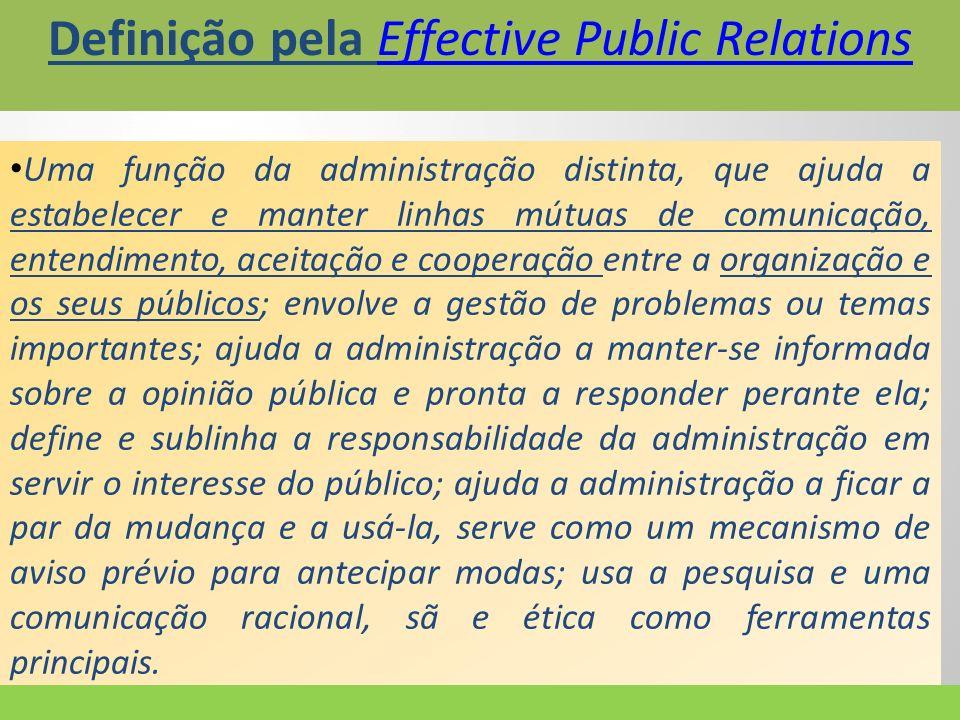 Definição pela Effective Public Relations