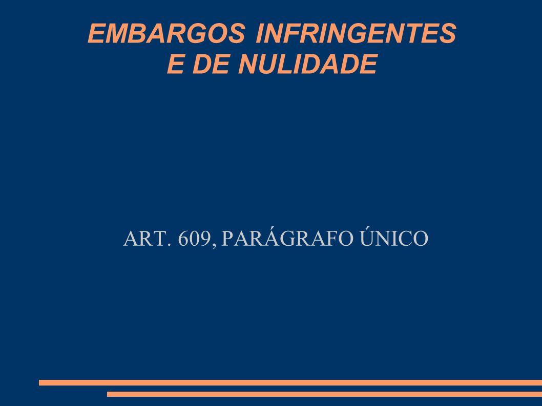 EMBARGOS INFRINGENTES E DE NULIDADE