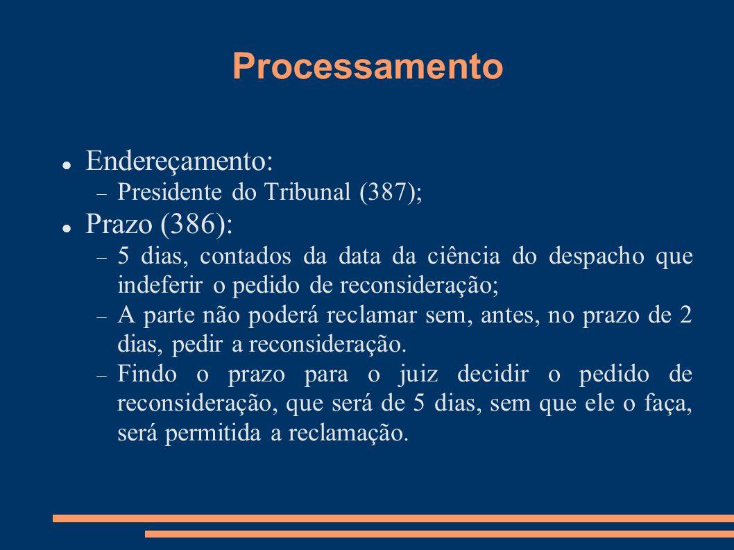 Processamento Endereçamento: Prazo (386):