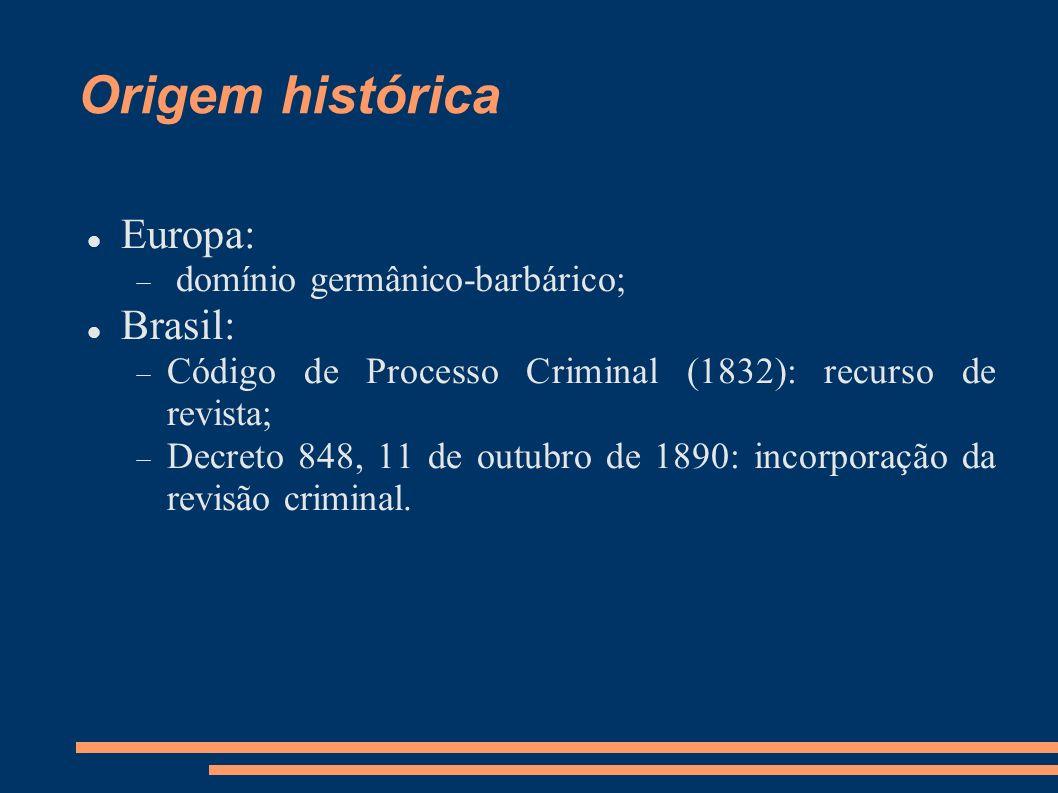 Origem histórica Europa: Brasil: domínio germânico-barbárico;