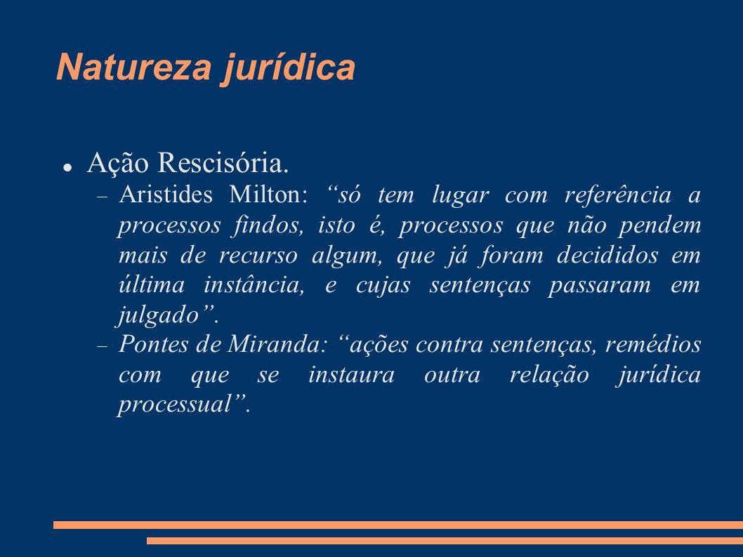 Natureza jurídica Ação Rescisória.