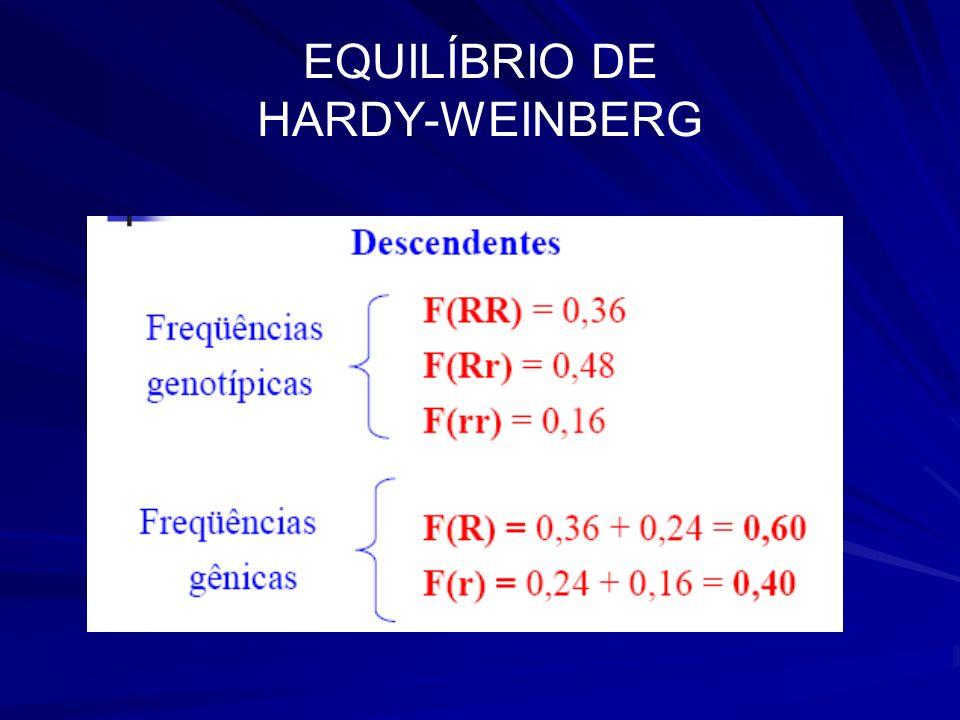 EQUILÍBRIO DE HARDY-WEINBERG