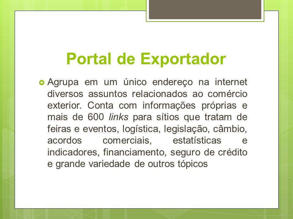 Portal de Exportador