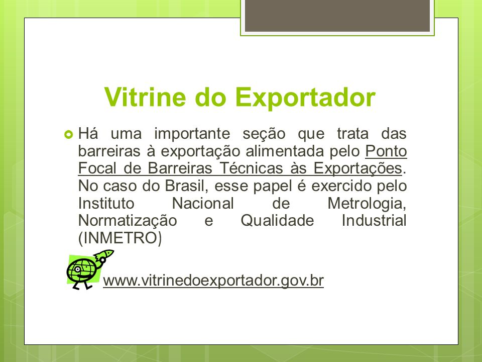 Vitrine do Exportador