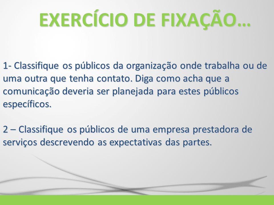 EXERCÍCIO DE FIXAÇÃO…
