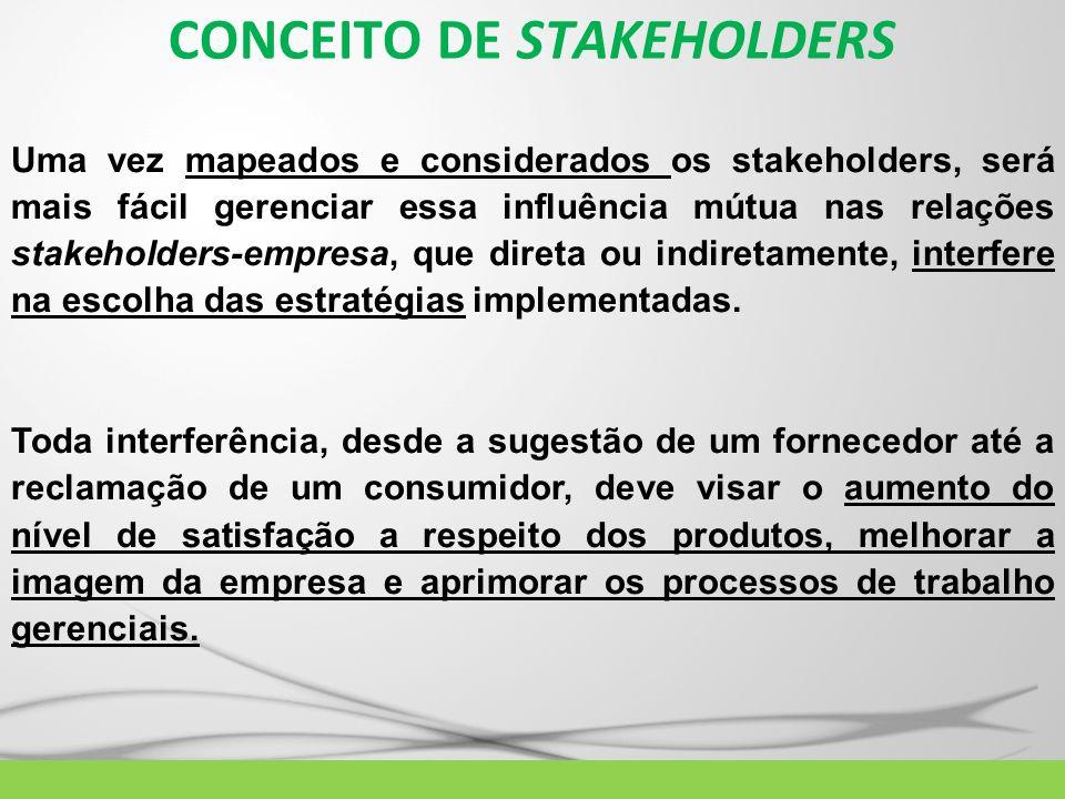CONCEITO DE STAKEHOLDERS