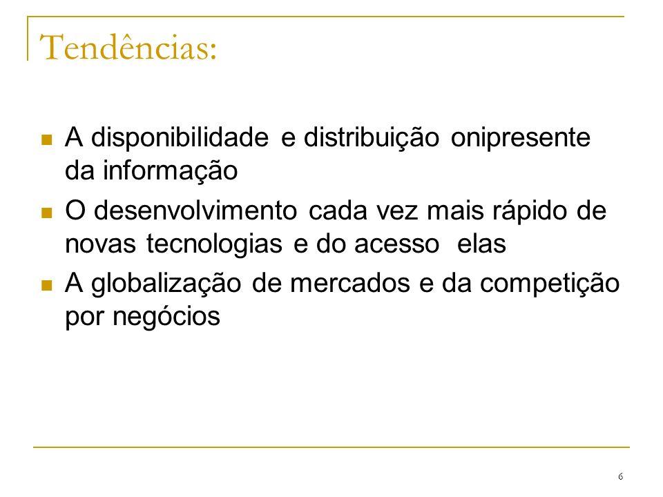 Tendências: A disponibilidade e distribuição onipresente da informação