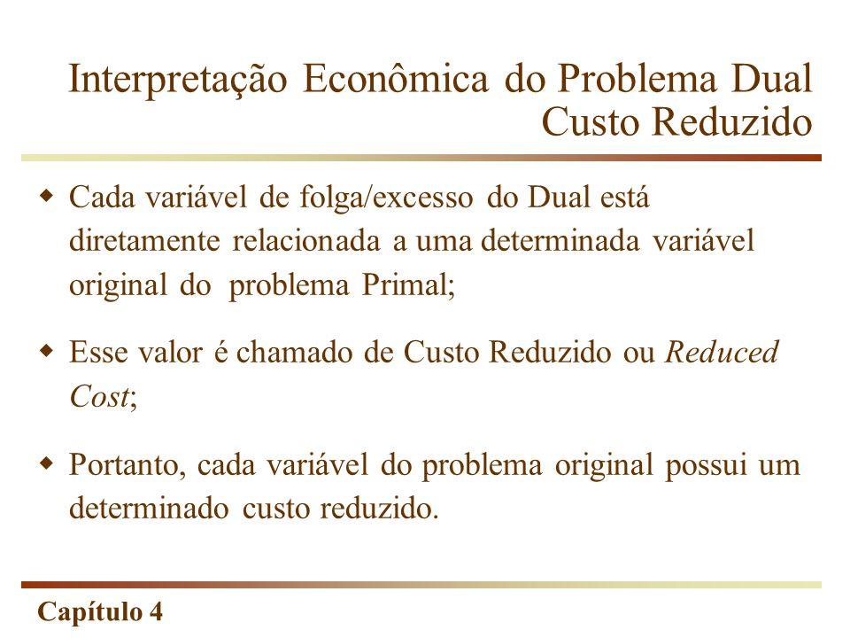 Interpretação Econômica do Problema Dual Custo Reduzido