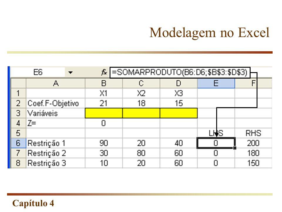 Modelagem no Excel