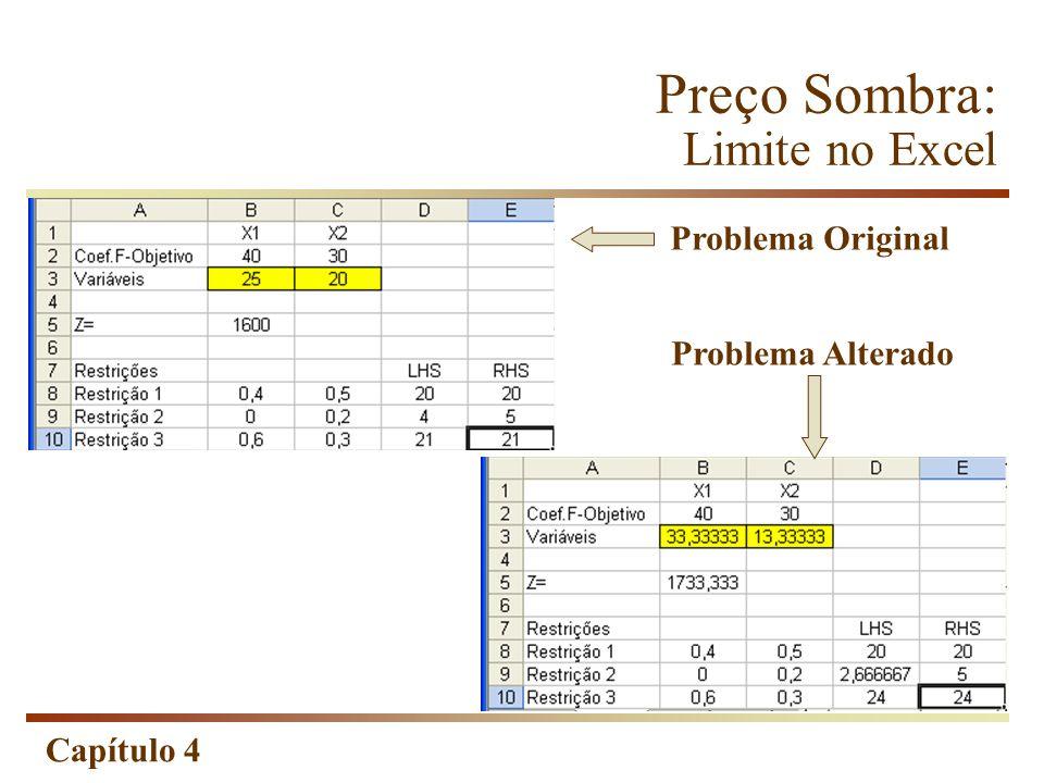 Preço Sombra: Limite no Excel