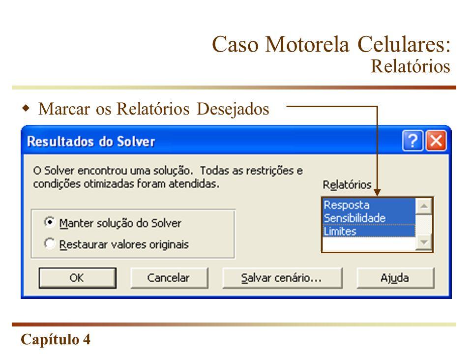 Caso Motorela Celulares: Relatórios